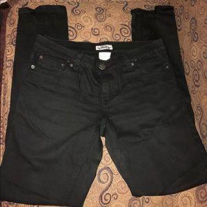 Size 7, juniors, black jeans, Aviva